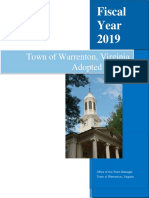 FY19 Town of Warrenton Adopted Budget FINAL