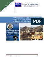 MANUAL DE PERFORACIÓN Y VOLADURA. TEMA 2, 3 Y 4 VARIABLES, EXPLOSIVOS Y MECANICA.pdf