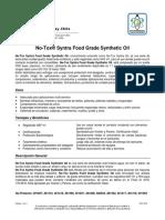No-Tox® Syntra Food Grade Synthetic Oil