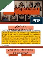 Diapositivas de Desaparición Forzada