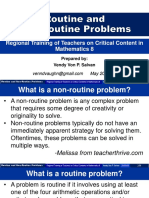 Routine and Non-Routine Problems in Mathematics