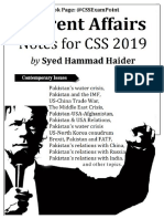 CSS 2019, Current Affairs Notes