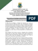 Pae Critica - plano estadual de combate a desertificação Ceara - CRITICA