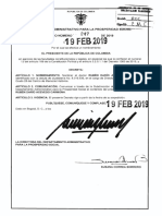 Decreto 247 Del 19 de Febrero de 2019