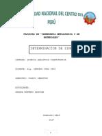 Informe-Determinación de Zinc laboratorio