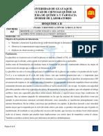 Informe 14-Bioquímica II-glicolisis e Identificación de Ácido Lactico.