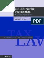 Tax Expenditure Management a Critical Assessment