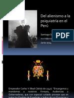 Del alienismo a la psiquiatría en el Perú