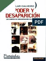 Pilar Calveiro Poder y Desaparicion Los Campos de Concentracion en Argentina