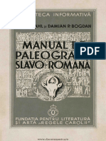 Bogdan, D.; Stahl, H. - Manual de Paleografie Slavo-română