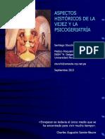 Aspectos históricos de la vejez y la psicogeriatría