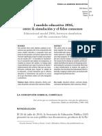 Modelo Educativo 2016 Entre La Simulación y El Falso Concenso