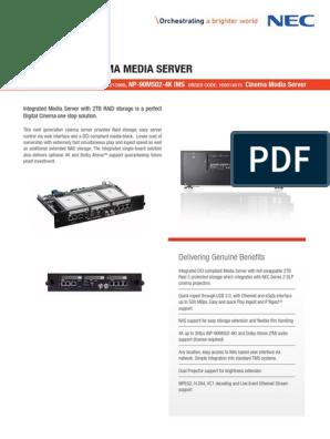 Nec Datasheet Ims Np90ms02 En   Usb   Multimedia