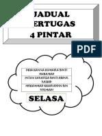 JADUAL BERTUGAS 4P