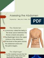 Assessing the Abdomen