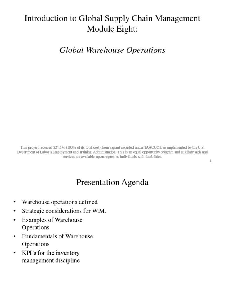 LBCC - Mod8 Warehouse Operation | Warehouse | Retail