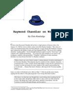 Raymond Chandler on Writing