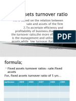 Fixed Assets Turnover Ratio