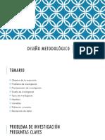 Diseño Metodológico de Investigación