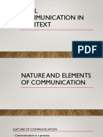 Oral Communication in Context Review