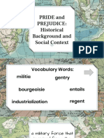 Historical Background and Social Context of Pride and Prejudice