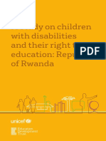 Rwanda Children With Disabilities UNICEF EDT 2016
