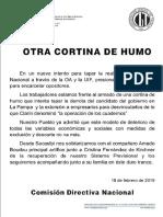 Comunicado SECASFPI Otra Cortina de Humo