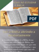 Erros Fatais Ao Estudar a Bíblia