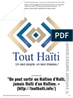 Un Séisme Majeur Est-il Vraiment Imminent Dans Le Nord_ - _On Peut Sortir Un Haïtien d'Haïti, Jamais Haïti d'Un Haïtien. »