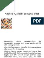 Analisis Kualitatif Seny Obat