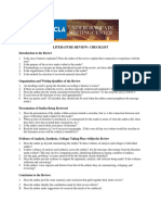 Literature Review Checklist