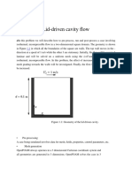 Simulation of Cavity Flow