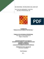 Estructura Del Proyecto y Del Trabajo de Suficiencia Profesional