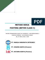 Beton Footing Klas C