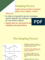 Sampling process of a discrete time signal