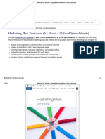 Marketing Plan Template – 40 Page MS Word Template and 10 Excel Spreadsheets