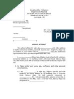 Judicial Affidavit