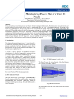 Analysis and Manufacturing Process Plan of a Water Jet Nozzle