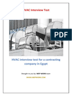 HVAC Interview test