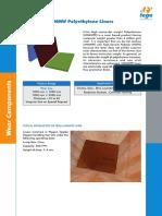 UHMW Polyethylene Liners