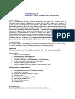 Economic Development Syllabus 2018