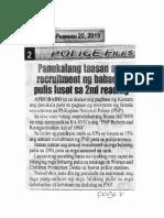 Police Files, Feb. 20, 2019, Panukalang taasan ang recruitment ng babaeng pulis lusot sa 2nd reading.pdf