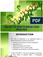 Theory of Cost & Break Even Analysis