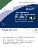 Development of Emission Factors From API 622_624 Test Data - Buzz Harris_Bronson Pate