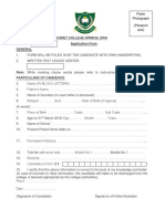 Cadet College Spinkai Application Form 2017