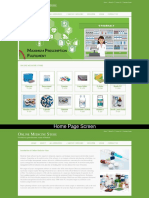 Online Medicine Store Mini Java Project Screens