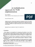 A Very Fast Multiplication Algorithm for VLSI Implementation