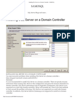 How to Install SQL Server in Domain Controller