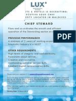 LSAA Job Poster Advert_Chief Steward