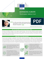 EUROPEAN DEFENCE ACTION PLAN DEFENDING EUROPE The European Defence Fund